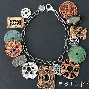 Silpada Treasure Trove Multi Color Coin Bracelet